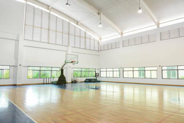 Reinigung von Sporthallen